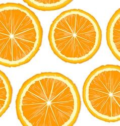Orange slices seamless vector