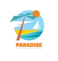 Paradise - logo creative vector image