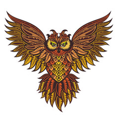 Patterned owl vector