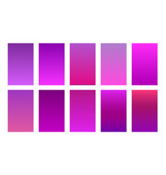Purple color gradient background set vector