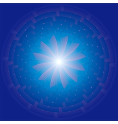Radiating spiral star vector image