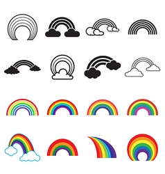 Rainbow icons vector
