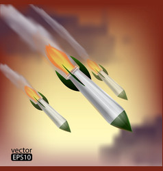 rockets attack vector image