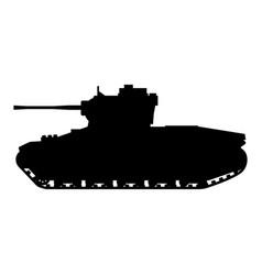 Silhouette tank infantry mkii matilda world war 2 vector