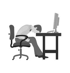 Sleepy Worker vector