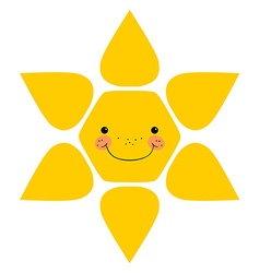 Smiling sun Isolated vector