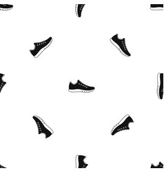 sneakers pattern seamless black vector image vector image