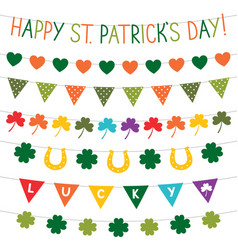 St patricks day banners set vector