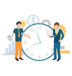 time management deadline work business vector image