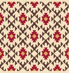 Tribal southwestern native american navajo pattern vector