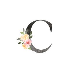 watercolor decorative letter vector image