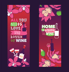 Wine lover banners all you vector