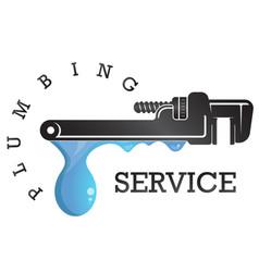 Wrench plumbing repair service vector