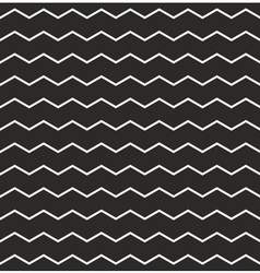 Zig zag black and white chevron tile pattern vector
