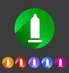 condom preservative icon flat web sign symbol logo vector image vector image