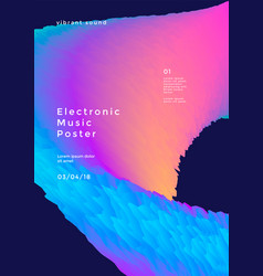 electronic music poster vector image