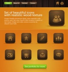 web site interface vector image