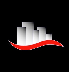Abstract skyscrapers- logo for real estate vector image