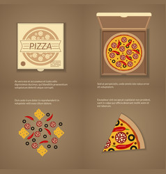 italian pizza in flat style vector image vector image