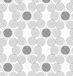 Slim gray small striped spirals forming flowers vector image