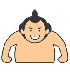 sumo wrestler avatar character vector image vector image