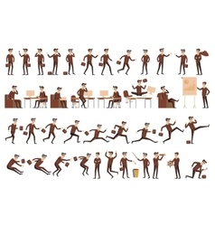 character positions set business people vector image vector image