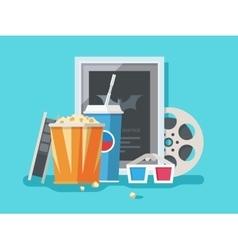 Cinema accessories vector image