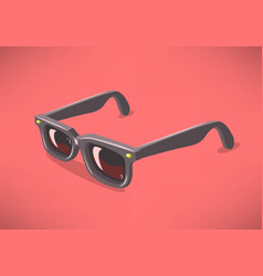 classic model sunglasses on a solid background vector image vector image