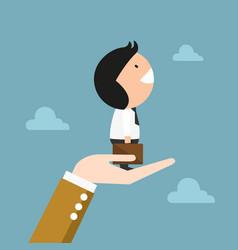 concept of businessman success vector image