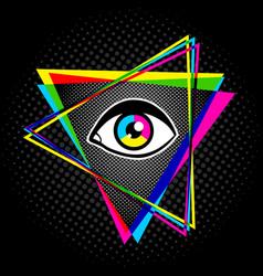 pyramid and eye vector image vector image
