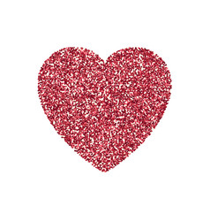valentines day heart isolated background vector image