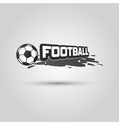 Ball symbol football logo badge sport emblem vector