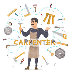 Carpentry round concept vector