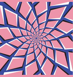 optical pink blue background vector image vector image