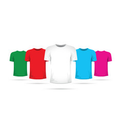 Set of tshirts with different colors vector