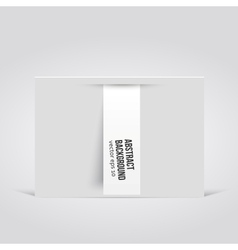 abstract background Label white vector image