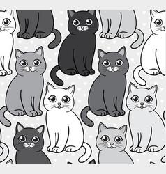 abstract funny cartoon cats seamless vector image