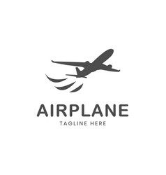 airplane logo template vector image