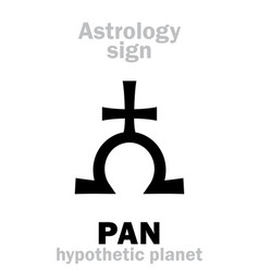 Astrology giant planet pan vector