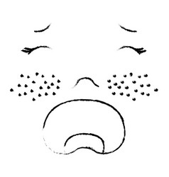 baby face crying vector image
