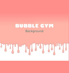 background with pink bubble gum vector image