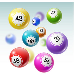 Balls with numbers of lottery lotto or bingo game vector