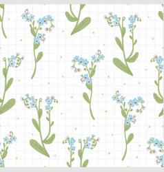 beautiful hand drawn blue forget me not flower vector image