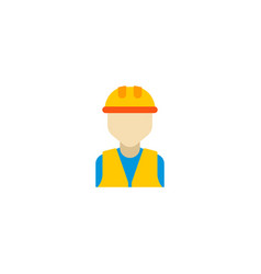 builder icon flat element of vector image