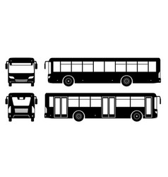 bus black icons vector image
