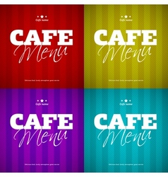 Cafe Menu card design template vector