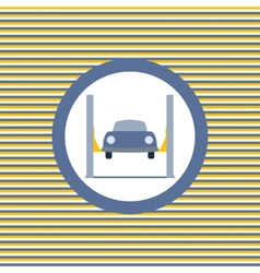 Car lift color flat icon vector image