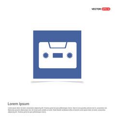cassette icon - blue photo frame vector image