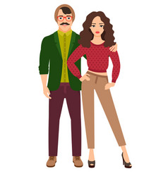 casual style beautiful couple vector image