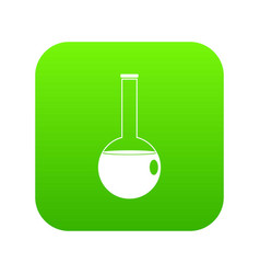 chemical beaker icon digital green vector image